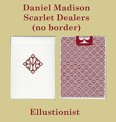 Borderless Madison Dealers - Red Scarlet Playing Cards 1-Deck