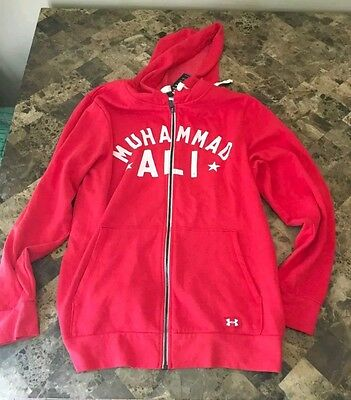 Under Armour Roots Of Fight Muhammad Ali 3X Heavyweight Champion Hoodie. Size S