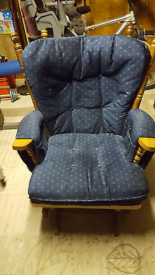 Breastfeeding chair with matching foot stool