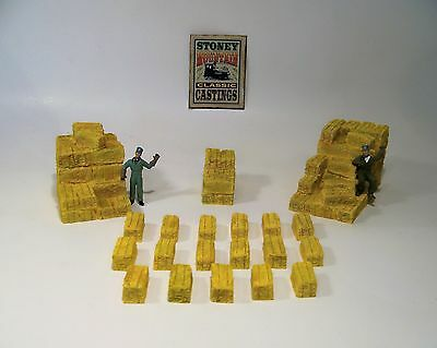 SMC-451 20 Piece Hay Stack & Hay Bale Set  O, On30-Scale   (unfinished)