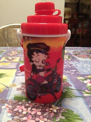 Betty Boop 3D Motorcycle Thermos Drink Container Bottle Cup with Strap Brand New