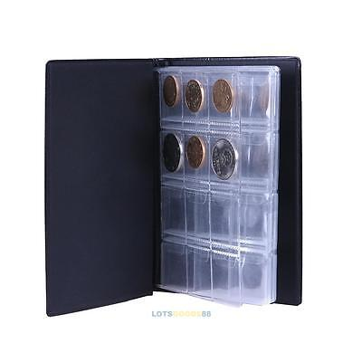10 Pages 120 Coin Collection Holder Pocket Money tokens Penny Storage Album Book