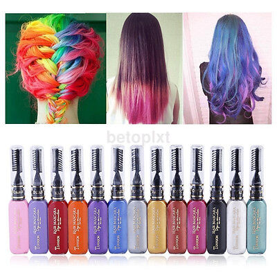 New Temporary Color Hair Dye Mascara Hair Chalk Non-toxic Hair Dye Salon DIY FR