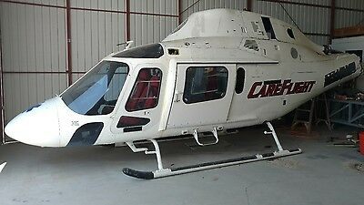 2001 Agusta 119 Fuselage with EMS Interior. Perfect for Parts or Movie Prop