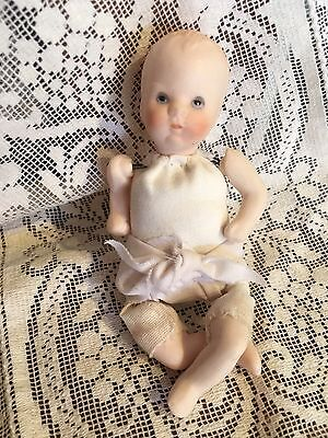 """Vintage Bisque Mini Baby Doll So Cute!! Age Unknown 4 1/2"""""""