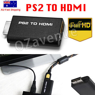 Mini PS2 to HDMI Video Converter Adapter with 3.5mm Audio Output for HDTV GT