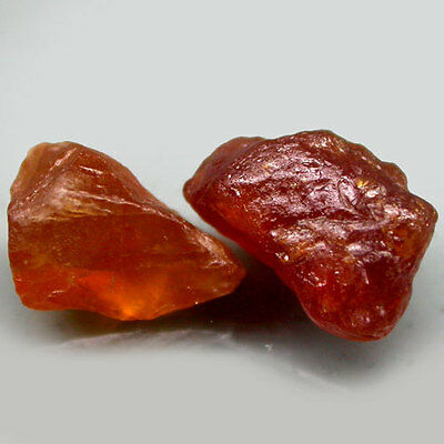 15.47Ct.pair! Rough Orange Natural Spessartite Garnet Namibia Free Shipp!
