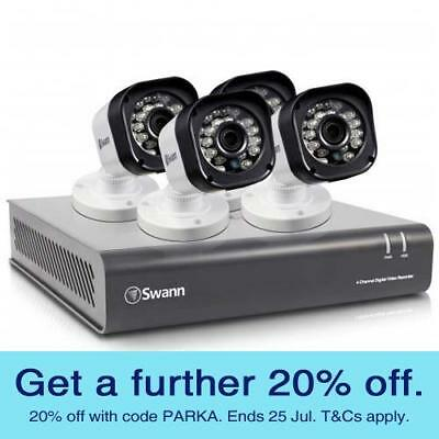 Swann HD Home Security Camera Kit (SWDVK-4720P4-AU) with GEN SWANN WARR