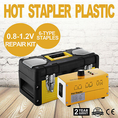 VEVOR Hot Stapler Plastic Repair Kit 600 Staples Tool Box 20W Plastic Welder Kit
