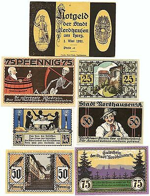 **1921 NORDHAUSEN Germany + RARE Envelope ~ Complete Set German Notgeld UNC