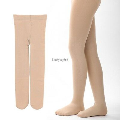 Children's Girls Ballet Dance Tights Footed Seamless Solid Stockings LB6Y01