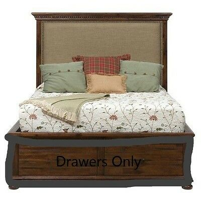 Jofran 680-88 Geneva Hills Queen Side Storage Drawers. Two Drawers Only -Not Bed