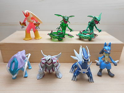 Pokemon Tomy Rayquaza Blaziken Figure Clear Set Palkia Suicune Lot Toy