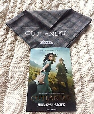 SDCC 2014 Outlander Fraser Bandana And Mini Poster- Comic Con