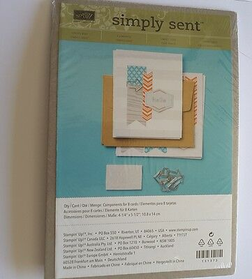 SIMPLY SENT KIT  On It's Way NEW. Retired. Stampin' Up! sealed in Shrink Wrap.