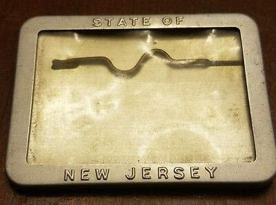 Vintage 1940 New Jersey Fishing License Badge rare *Near Mint Condition*