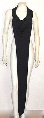 Ann Demeulemeester black tube wrap collar with tail 40