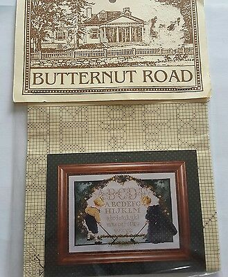 Butternut Road. * CHILDREN'S GARDEN* Counted Cross Stitch Pattern. VINTAGE.