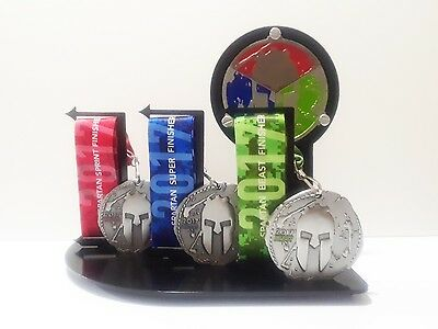 Spartan Race Trifecta Medal Display ,OCR, Race, Made For Spartan Medals