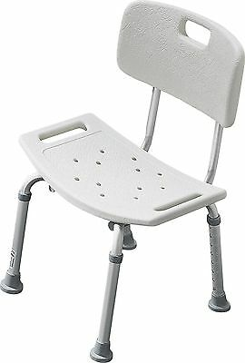 Ease of Living Bath and Shower Stool with Backrest - White -From Argos on ebay