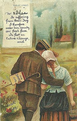Postcard - Romantic Comedy Posted Uk 1908