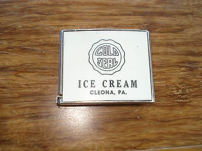 Vtg Gold Seal Ice Cream Cleona Pa Advertising Tape Measure