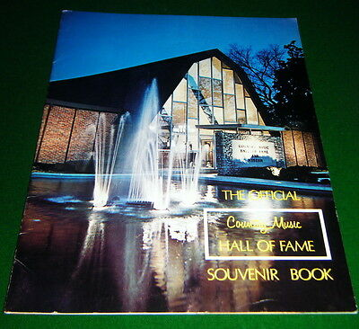 THE OFFICIAL Country Music HALL OF FAME Souvenir Book, NASHVILLE TN., Good Cond.
