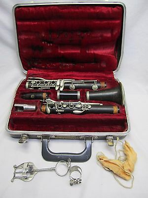 VINTAGE G. VALETTE  'LP B' PARIS CLARINET CASE SELMER Tablo Table HS* Mouthpiece