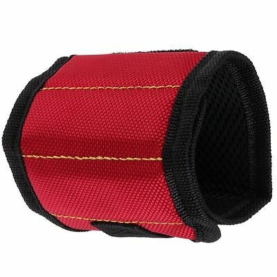 RED Magnetic Wristband Belt Tool Nails Screws Parts Holder Storage