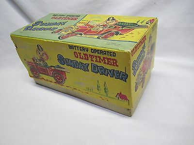 Vintage 1950's Oldtimer Sunday Driver Box Nomura Japan Kosube Tin Toy Car