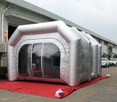 6x3x2.5m Oxford Cloth Foldable Inflatable Spray Paint Booth Tent Custom Made BG