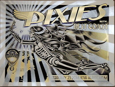 The Pixies - Best Coast - 2014 - Kiva - Albuquerque -  Poster- Delano Garcia