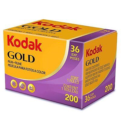 UK - 3 Rolls Kodak GOLD 200 35mm 36exp Color Print Film (Exp. 2020.04)