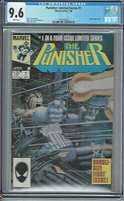 Cgc 9.6 Punisher Limited Series #1 White Pages Zeck And Beatty Classic 1984