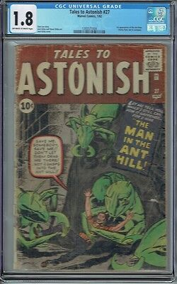 Cgc 1.8 Tales To Astonish #27 1St Appearance Of The Ant-Man