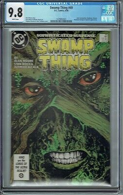 Cgc 9.8 Swamp Thing #49 White Pages 1St Appearance Justice League Dark