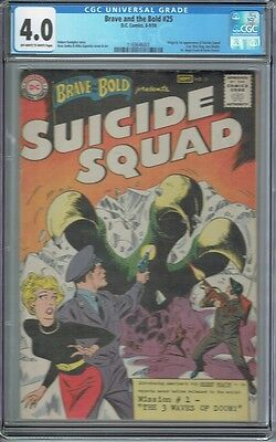 Cgc 4.0 Brave And The Bold #25 1St Suicide Squad Appearance 1959