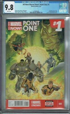 Cgc 9.8 All-New Marvel Now! Point One #1 White Pages 1St Ms Marvel Kamala Khan