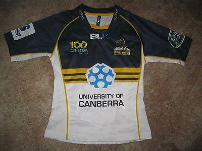 Act Brumbies Supporters Sponsored Rugby Union Tight Fitting Jersey (Mens Small)