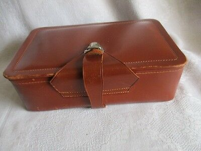 """Vintage Men's English Leather Travel Grooming Kit  9"""" x 5.75"""" x 2.5"""" - CASE ONLY"""