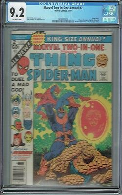 Cgc 9.2 Marvel Two-In-One Annual #2 Thanos Last Bronze Age Appearance Starlin