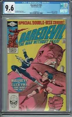 Cgc 9.6 Daredevil #181 White Pages Death Of Elektra Frank Miller