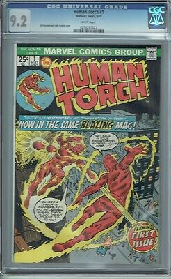 Cgc 9.2 Human Torch #1 White Pages Marvel 1974 1St Torch Solo Series