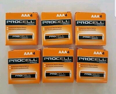 24 NEW DURACELL PROCELL AAA ALKALINE BATTERIES 24 counts < FREE SHIPPING >