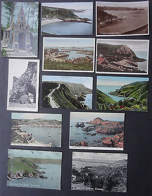 CHANNEL ISLANDS GUERNSEY,  SARK, JERSEY POSTCARDS x 12 Unused, mostly 1920s
