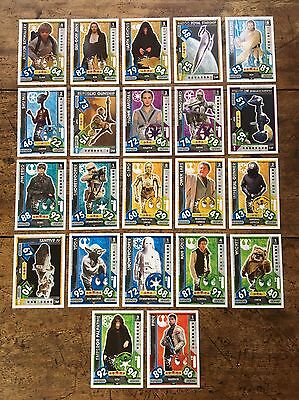 Star Wars - Force Attax 2017 (TOPPS collector cards) 22 x Cards Mixed Lot #02.
