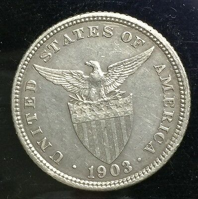 1903 US-Philippines Silver Coin 20 centavos  lot#17