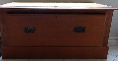 VINTAGE BLANKET BOX or CHEST / window seat - maybe Edwardian? - one drawer