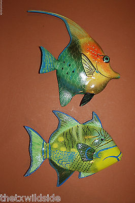 "New,8"",pair,tropical,fish,sealife,bath,nautical Decor,beach Decor, 247-134"