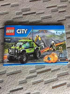 Lego City 60121 Volcano Exploration Truck Instructions Only Book